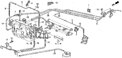 1995 prelude S 2 DOOR 5MT INSTALL PIPE - TUBING (1) diagram