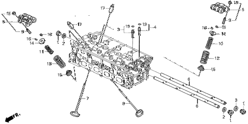 1993 prelude SIVTEC 2 DOOR 5MT VALVE - ROCKER ARM (3) diagram