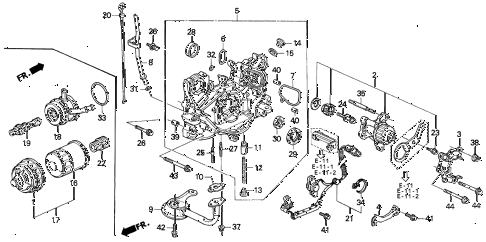 1995 prelude SI 2 DOOR 4AT OIL PUMP - OIL STRAINER diagram