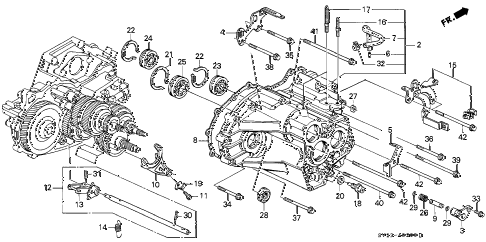 1997 accord LX 2 DOOR 4AT AT TRANSMISSION HOUSING diagram
