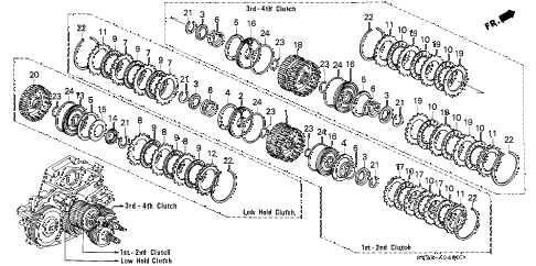 1997 accord EX 2 DOOR 4AT AT CLUTCH diagram