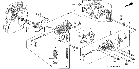 1994 accord LX 2 DOOR 4AT AT REGULATOR diagram