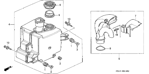1994 accord DX 2 DOOR 5MT RESONATOR CHAMBER diagram