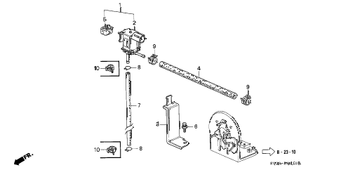 1994 accord LX(ABS) 2 DOOR 5MT PURGE CONTROL SOLENOID VALVE diagram
