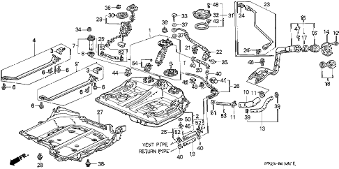 1997 accord EX(LEATHER) 2 DOOR 5MT FUEL TANK (2) diagram