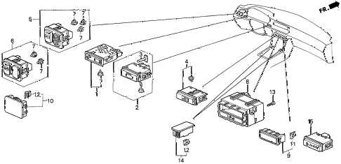 1995 accord LX(ABS) 2 DOOR 5MT SWITCH diagram