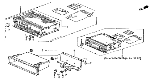 1994 accord LX(ABS) 2 DOOR 5MT AUTO RADIO diagram