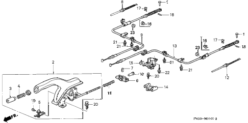 1997 accord EX(LEATHER) 2 DOOR 5MT PARKING BRAKE diagram