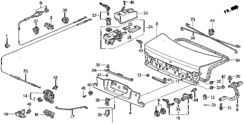 1997 accord EX 2 DOOR 5MT TRUNK LID (2) diagram