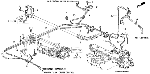 1996 accord EX(LEATHER) 2 DOOR 5MT INSTALL PIPE - TUBING diagram