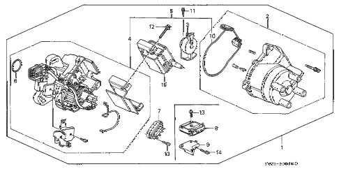 1995 accord EX(LEATHER) 2 DOOR 5MT DISTRIBUTOR (HITACHI) diagram