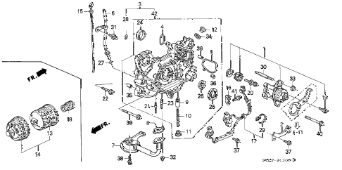 1994 accord EX 2 DOOR 4AT OIL PUMP - OIL STRAINER diagram