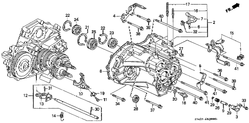 1997 accord DX 4 DOOR 4AT AT TRANSMISSION HOUSING diagram
