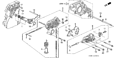 1995 accord DX 4 DOOR 4AT AT REGULATOR diagram