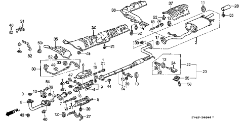 1996 accord LX 4 DOOR 4AT EXHAUST PIPE (2) diagram