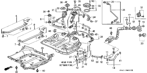 1997 accord EX(LEATHER) 4 DOOR 4AT FUEL TANK (2) diagram