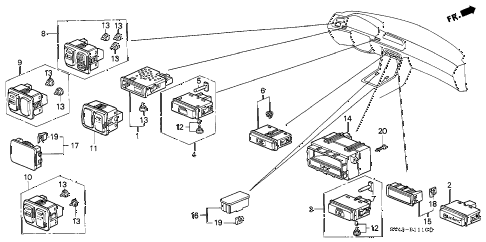 1996 accord LX(ABS) 4 DOOR 4AT SWITCH diagram