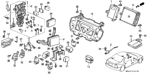 1997 accord DX 4 DOOR 4AT CONTROL UNIT (CABIN) diagram