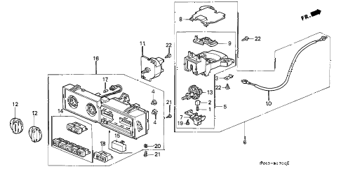 1994 accord LX 4 DOOR 5MT HEATER CONTROL diagram