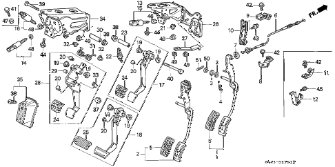 1996 accord DX 4 DOOR 5MT PEDAL diagram