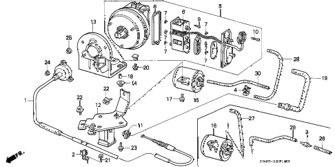 1994 accord EX 4 DOOR 4AT AUTO CRUISE diagram