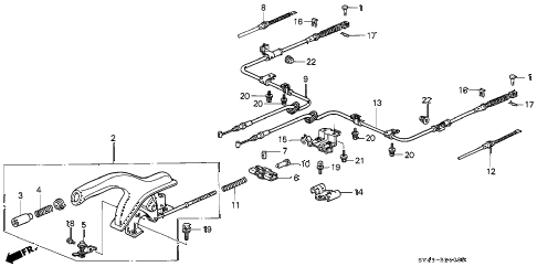 1996 accord DX   2(ANNIVERSARY ED 4 DOOR 4AT PARKING BRAKE diagram
