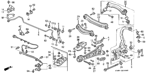 1995 accord EX 4 DOOR 5MT REAR LOWER ARM diagram