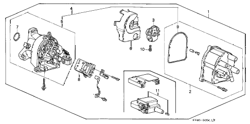 1997 accord DX 4 DOOR 4AT DISTRIBUTOR (TEC) diagram