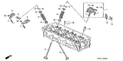 1997 accord EX 4 DOOR 5MT VALVE - ROCKER ARM (2) diagram