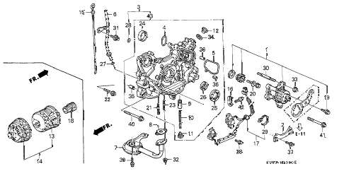 1996 accord LX(ABS) 4 DOOR 4AT OIL PUMP - OIL STRAINER diagram