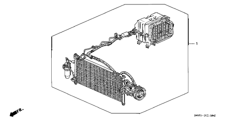 1994 accord DX 4 DOOR 5MT KIT diagram