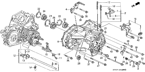 1997 accord EX 5 DOOR 4AT AT TRANSMISSION HOUSING diagram