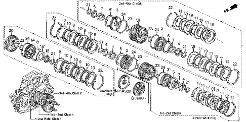 1996 accord EX 5 DOOR 4AT AT CLUTCH diagram