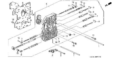 1994 accord EX 5 DOOR 4AT AT MAIN VALVE BODY diagram