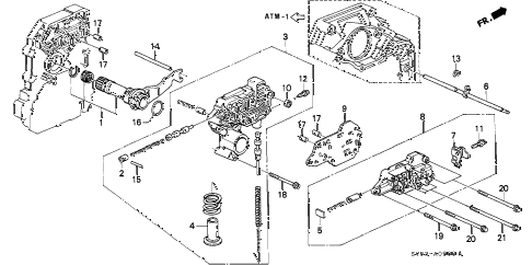 1995 accord EX 5 DOOR 4AT AT REGULATOR diagram