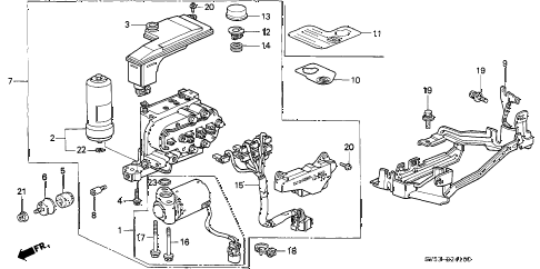 1996 accord EX 5 DOOR 4AT ABS MODULATOR diagram