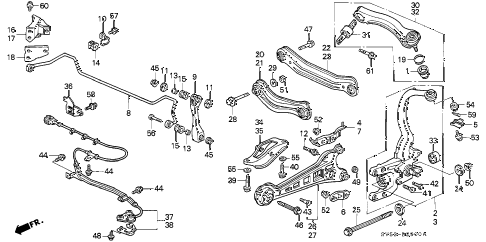 1994 accord EX 5 DOOR 4AT REAR LOWER ARM diagram