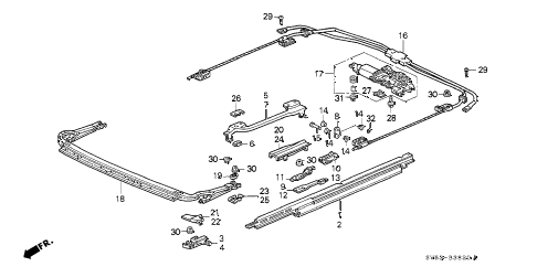 1997 accord EX 5 DOOR 4AT SLIDING ROOF (2) diagram