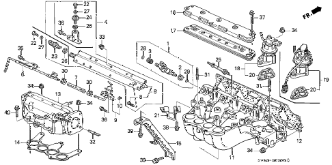 1994 accord LX 5 DOOR 4AT INTAKE MANIFOLD diagram