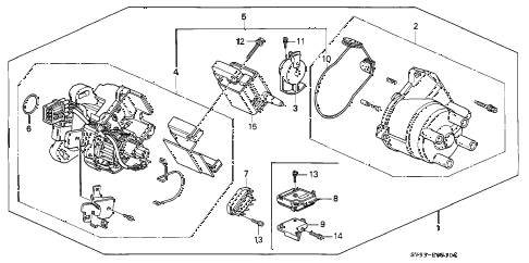1994 accord EX 5 DOOR 5MT DISTRIBUTOR (HITACHI) diagram