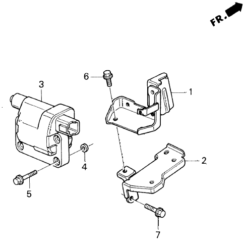 1996 accord LX 5 DOOR 5MT IGNITION COIL diagram