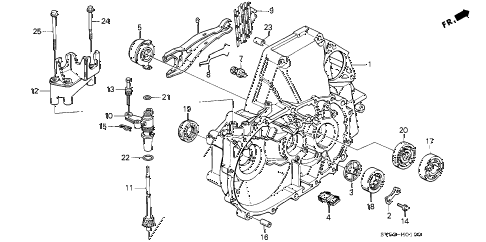 1994 accord LX(ABS) 5 DOOR 5MT MT CLUTCH HOUSING diagram