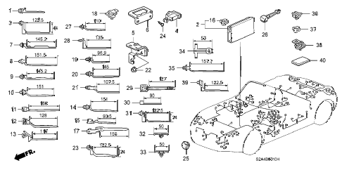 2002 s2000 S2000 2 DOOR 6MT HARNESS BAND - BRACKET diagram
