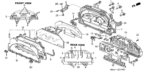 2001 s2000 S2000 2 DOOR 6MT METER COMPONENTS (NS) (1) diagram