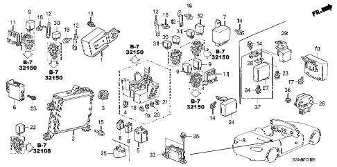 2007 s2000 S2000 2 DOOR 6MT CONTROL UNIT (CABIN) diagram