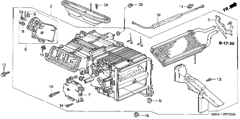 2004 s2000 S2000 2 DOOR 6MT HEATER UNIT diagram