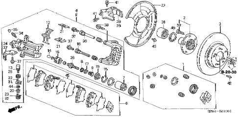 2007 s2000 S2000 2 DOOR 6MT REAR BRAKE diagram