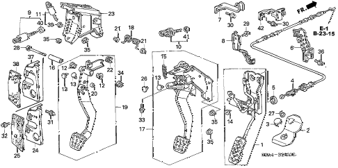 2006 s2000 S2000 2 DOOR 6MT PEDAL diagram