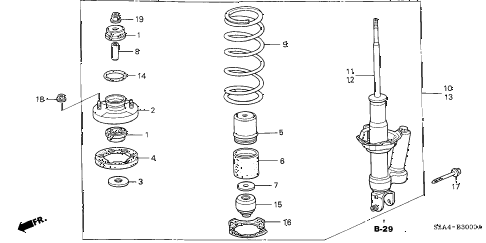 2004 s2000 S2000 2 DOOR 6MT REAR SHOCK ABSORBER diagram