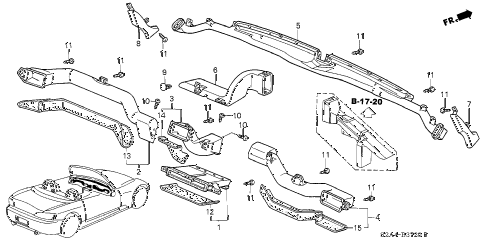 2006 s2000 S2000 2 DOOR 6MT DUCT diagram